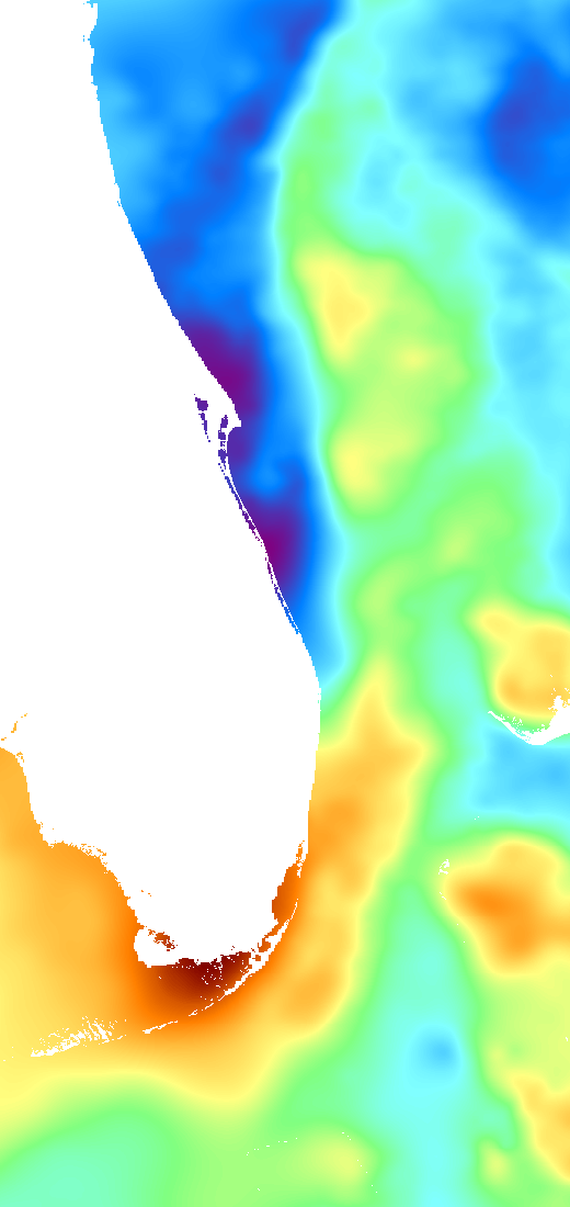 East Florida Sst Chart For Deep Sea Fishing Fishtrack