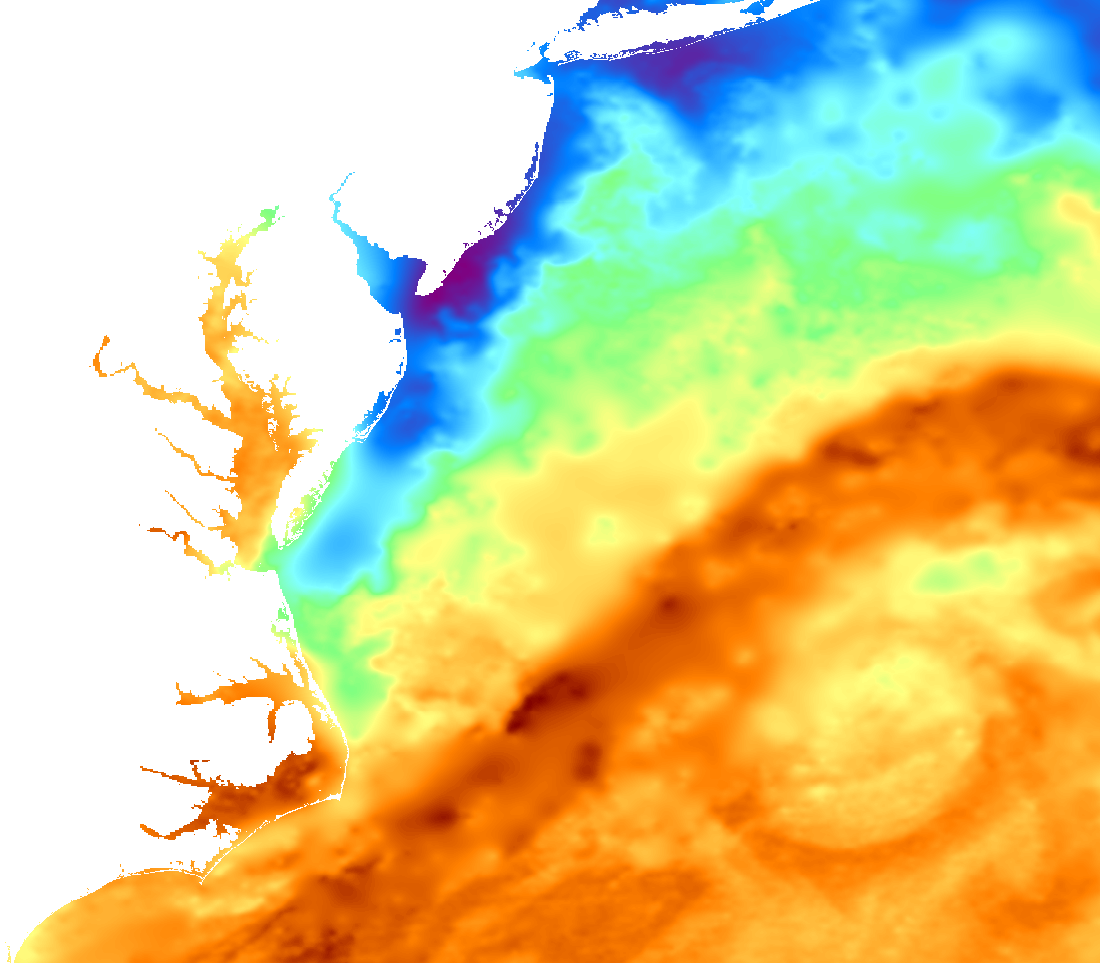 Southern California SST Chart for Deep Sea Fishing